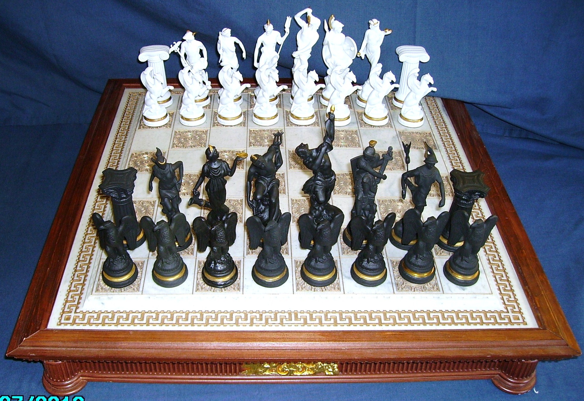 Hidden treasure kept in closet all these years never played rare franklin mint chess - The chessmen chess set ...